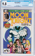 Modern Age (1980-Present):Superhero, Moon Knight #1 (Marvel, 1980) CGC NM/MT 9.8 Off-white to whitepages....