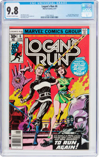 Logan's Run #6 (Marvel, 1977) CGC NM/MT 9.8 Off-white to white pages