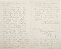 Autographs:U.S. Presidents, Franklin Pierce Autograph Letter Signed...