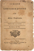 Books:Pamphlets & Tracts, Robert Barclay: Serious Consideration on AbsolutePredestination....