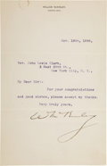Autographs:U.S. Presidents, William McKinley Typed Letter Signed....
