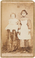 Photography:CDVs, New Orleans Carte de Visite of Black Nanny with a White Child.... (Total: 2 Items)