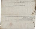 Autographs:Statesmen, Beverley Randolph Signed Land Grant Issued to Patrick Henry....