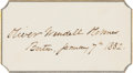 Autographs:Authors, Oliver Wendell Holmes Signature....