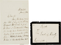 William Lamb (Lord Melbourne) Autograph Letter Signed