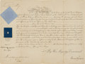 Autographs:Non-American, Queen Victoria of England Military Appointment Signed...