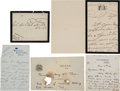 Autographs:Non-American, Collection of Letters by George V and His Family.... (Total: 4Items)