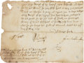 Autographs:Non-American, William Laud, Archbishop of Canterbury, Partial Document Signed....