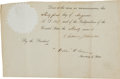 Autographs:U.S. Presidents, Andrew Johnson Partial Document Signed...