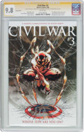 Modern Age (1980-Present):Superhero, Civil War #3 Variant Cover - Signature Series (Marvel, 2006) CGCNM/MT 9.8 White pages....
