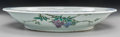 "Asian:Chinese, A Chinese Enameled Porcelain Underplate with Wisteria Decoration,Qing Dynasty, 19th century. Marks: Four-character ""Hall fo..."