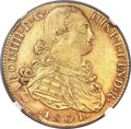 Colombia, Colombia: Charles IV gold 8 Escudos 1801 NR-JJ UNC Details (RimFiling) NGC,...