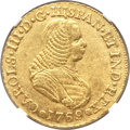 Colombia, Colombia: Charles III gold 4 Escudos 1769 PN-J AU55 NGC,...