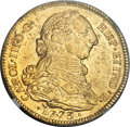 Colombia, Colombia: Charles III gold 4 Escudos 1773 P-JS UNC Details (ObverseDamage) NGC,...