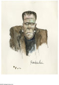 Original Comic Art:Sketches, Jeff MacNelly - Frankenstein's Monster Illustration Original Art (1977). Editorial cartooning great, Jeff MacNelly, drew thi...