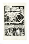 """Original Comic Art:Complete Story, Abe Simon (attributed) - Tomb of Terror #8 Complete 6-page Story """"Vision in Bronze"""" Original Art (Harvey, 1953). The tale of..."""
