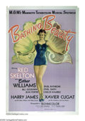 """Movie Posters:Musical, Bathing Beauty (MGM, 1944). One Sheet (27"""" X 41""""). Amazing '40s bathing beauty graphics highlight this Esther Williams water..."""