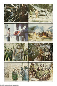 """Battle for the Planet of the Apes (20th Century Fox, 1972). Lobby Card Set of 8 (11"""" X 14""""). The final chapter..."""