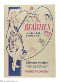 """Movie Posters:Comedy, The Beauties (Pathe', 1930). One Sheet (27"""" X 41""""). Pathe had its beginnings in 1896 when the Pathe brothers, Charles and Em..."""