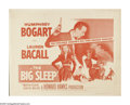 """Movie Posters:Film Noir, The Big Sleep (Warner Brothers, R-1954). Half Sheet (22"""" X 28""""). Private detective Philip Marlowe is hired by a rich family...."""