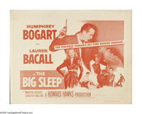 """The Big Sleep (Warner Brothers, R-1954). Half Sheet (22"""" X 28""""). Private detective Philip Marlowe is hired by..."""