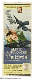 "The Birds (Universal, 1963). Insert (14"" X 36""). With no explanation, birds begin attacking the residents of a..."