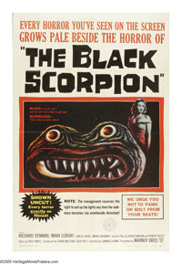 """The Black Scorpion (Warner Brothers, 1957). One Sheet (27"""" X 41""""). This is a vintage, theater-used poster for..."""