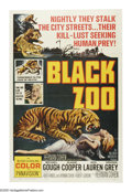 """Movie Posters:Horror, Black Zoo (Allied Artists, 1963). One Sheet (27"""" X 41""""). This low budget thriller captures the essence of early 1960s horror..."""