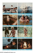 "Movie Posters:Adventure, Blue Lagoon (Columbia, 1980). Mini Lobby Card Set of 8 (8"" X 10"").Two young children (Brooke Shields, Christopher Atkins) a...(Total: 8 Items)"