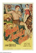 "Movie Posters:Adventure, Bomba and the Jungle Girl (Monogram, 1952). One Sheet (27"" X 41"").Although he did have a few other roles, Johnny Sheffield ..."