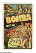 """Movie Posters:Adventure, Bomba, the Jungle Boy (Monogram, 1949). One Sheet (27"""" X 41"""").Young Pat Harland (Peggy Ann Garner) and her father (Onslow S..."""
