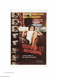 """Bourbon Street Shadows (Republic, 1962). One Sheet (27"""" X 41""""). This is a vintage, theater-used poster for thi..."""