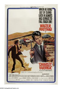 "Charley Varrick (Universal, 1973). Poster (40"" X 60""). Walter Matthau in the title roll as a small town crook..."