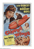 """Movie Posters:Comedy, Clipped Wings (Allied Artists, 1953). One Sheet (27"""" X 41"""").Classic slapstick comedy featuring the Bowery Boys in the Air ..."""
