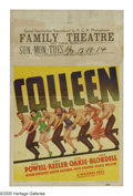 """Movie Posters:Musical, Colleen (Warner Brothers, 1936). Window Card (14"""" X 22""""). The last pairing of Dick Powell and Ruby Keeler was this musical t..."""