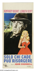 """Movie Posters:Film Noir, Dead Reckoning (Columbia, 1947). Italian Locandina (13"""" X 27.5"""").Humphrey Bogart and his friend William Prince, both Medal ..."""