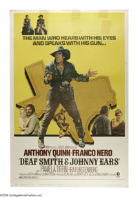 "Deaf Smith & Johnny Ears (MGM, 1973). Poster (40"" X 60""). Franco Nero and Anthony Quin in a rollicking..."