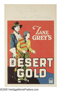 "Desert Gold (Paramount, 1926). Window Card (14"" X 22""). Silent film based on one of Zane Grey's popular Wester..."