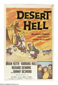 "Movie Posters:Adventure, Desert Hell (20th Century Fox, 1958). One Sheet (27"" X 41""). BrianKeith and Barbara Hale in an action-adventure about the F..."