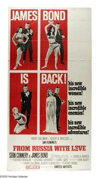 "From Russia With Love (United Artists, 1963). Three Sheet (41"" X 81""). After the incredible success of ""D..."