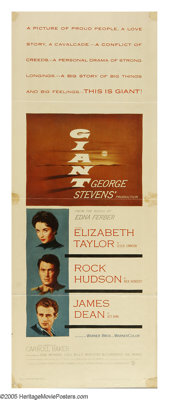 "Giant (Warner Brothers, 1956). Insert (14"" X 36""). Considered on of the greatest films of all time, Giant is a..."
