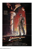"Movie Posters:Adventure, Indiana Jones and the Temple of Doom (Paramount, 1984). One Sheet(27"" X 41""). Colorful poster with the quintessential Harri..."