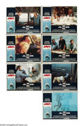 """Movie Posters:Horror, Jaws (Universal, 1975). Lobby Cards (7) (11"""" X 14""""). Steven Spielberg's Oscar-winning thriller about a New England town terr... (Total: 7 Items)"""