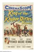 "Movie Posters:Adventure, King of the Khyber Rifles (20th Century Fox, 1954). One Sheet (27""X 41""). Tyrone Power is a half caste British officer who ..."