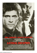 """Movie Posters:Crime, Lethal Weapon (Warner Brothers, 1987). One Sheet (27"""" X 41""""). Offered here is a vintage, theater-used poster for this crime/..."""