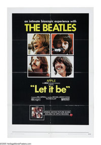 "Let It Be (United Artists, 1970). One Sheet (27"" X 41""). The biopic of the Beatles's attempt to recapture thei..."