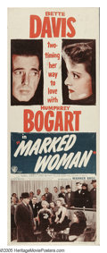 "Movie Posters:Crime, Marked Woman (Warner Brothers, R-1947). Insert (14"" X 36""). Typicalof Warner Brothers during the 1930s, the studio would fr..."