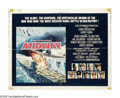 "Movie Posters:War, Midway (Universal, 1976). Half Sheet (22"" X 28""). The turning pointof World War II in the Pacific was the Battle of Midway...."