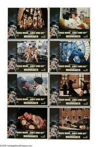 """Moonraker (United Artists, 1979). Lobby Card Set of 8 (11"""" X 14""""). Roger Moore as James Bond investigates the..."""
