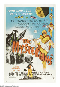 """The Mysterians (MGM, 1959). One Sheet (27"""" X 41""""). """"Strange things are happening behind the moon!"""" A..."""